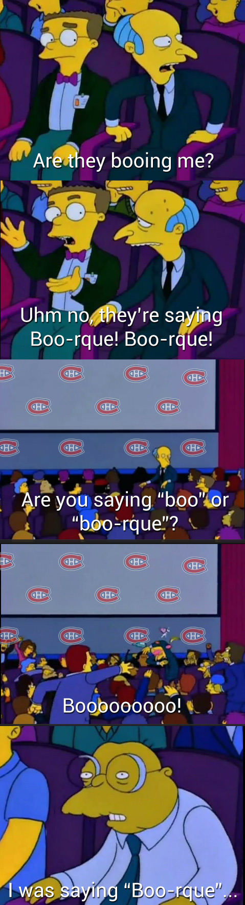 A recreation of the 'boo-urns' scene from the Simpsons with 'boo-rque'