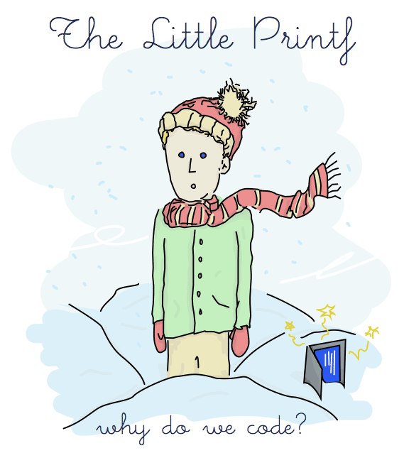 book cover, depicting little printf