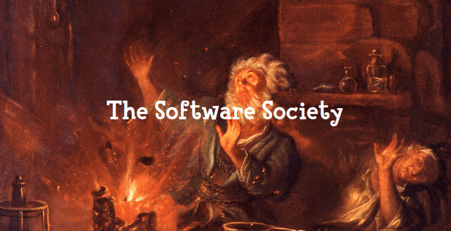 'The Software Society': Van Bentum's painting The Explosion in the Alchemist's Laboratory