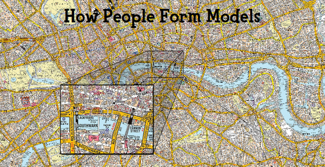'How People From Models': a detailed road map of the city of London, UK